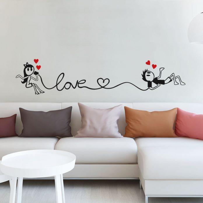 Adesivos combinando com a tinta da parede